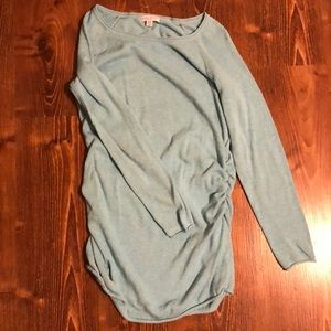 Sweaters - Light Blue Maternity Tunic Sweater